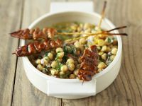 Hähnchen mit Kichererbsensalat Rezept