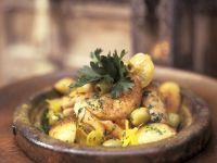 Hähnchen mit Oliven und Salzzitronen aus der Tajine Rezept