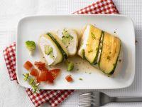 Hähnchen mit Zucchinihülle Rezept