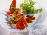Hähnchen-Paprikaspieße Rezept