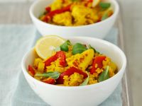 Hähnchen-Risotto mit Curry Rezept