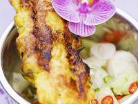 Hähnchen-Satay mit Gurkensalat Rezept