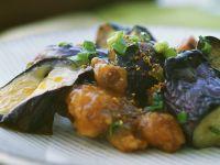 Hähnchen-Tempura mit Auberginen Rezept