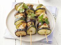 Hähnchen-Zucchini-Spieße Rezept