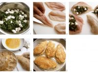 Hähnchenbrüste mit Spinatfüllung Rezept