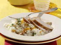 Hähnchenbrust mit Aprikosen-Thymian-Reis Rezept