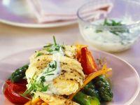 Hähnchenbrust mit Gemüse in Folie gegart Rezept