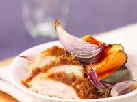 Hähnchenbrust mit Nektarinen und roten Zwiebeln Rezept