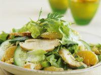 Hähnchenbrust mit Orangen und Kopfsalat Rezept