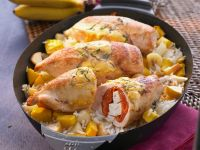 Hähnchenbrust mit Paprika-Feta-Füllung Rezept
