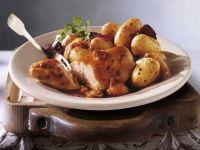 Hähnchenbrust mit Speck und Kartoffeln Rezept