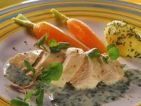 Hähnchenbrustfilet mit Kressesauce Rezept