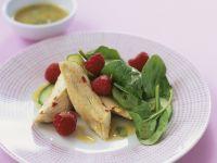 Hähnchenbrustfilet mit Spinat und Himbeeren Rezept