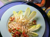 Hähnchenbrustsalat mit Ingwer-Dressing Rezept