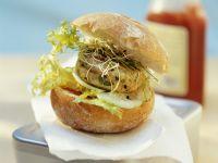 Hähnchenburger mit Sprossen Rezept