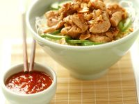 Hähnchencurry auf Nudeln Rezept