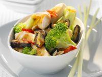 Hähnchengeschnetzeltes mit Gemüse Rezept