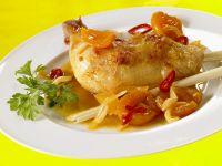 Hähnchenkeulen mit fruchtiger Sauce Rezept