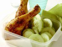 Hähnchenkeulen mit Gurken Rezept