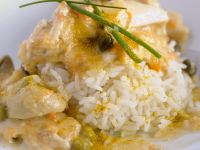 Hähnchenragout mit Reis Rezept