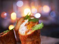 Hähnchenröllchen mit Orangenfüllung Rezept