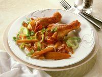 Hähnchenschenkel mit Gemüse Rezept