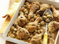 Hähnchenschlegel mit Champignons Rezept