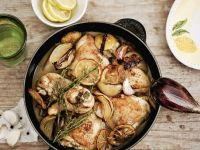 Hähnchenschlegel mit Knoblauch, Zitrone und Thymian Rezept