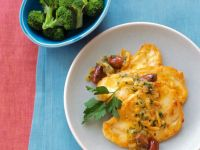 Hähnchenschnitzel mit Orangensauce und Oliven Rezept