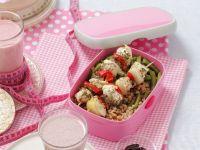 Hähnchenspieße mit Buchweizen-Bohnen-Salat Rezept
