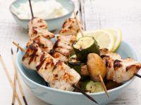 Hähnchenspieße mit Gemüse vom Grill Rezept