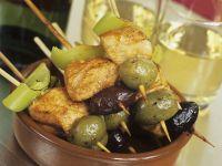 Hähnchenspieße mit Oliven Rezept