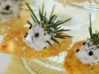 Häppchen mit Frischkäse-Igel Rezept