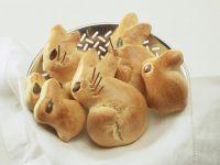 Häschen-Brötchen zu Ostern