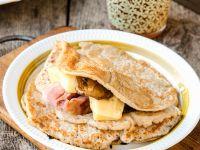 Hafer-Pfannkuchen mit Kassler gefüllt Rezept