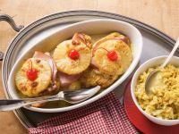 Hawaii-Schnitzel von der Pute mit Curryreis Rezept