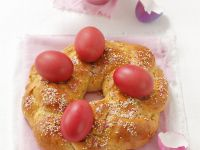 Hefekranz zu Ostern Rezept