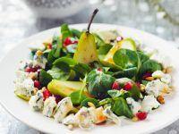 Herbstlicher Salat mit Rapunzel, Birne und Blauschimmelkäse Rezept