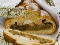 Herzhafte Pastete mit Kohl und Fisch auf polnische Art Rezept