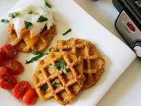 Herzhafte Süßkartoffelwaffeln mit pochiertem Ei Rezept