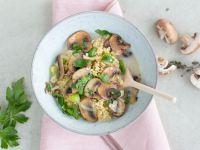Herzhaftes Hirse-Porridge mit Pilzen Rezept