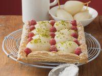 Himbeer-Birnen-Kuchen Rezept