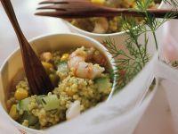 Hirsesalat mit Garnelen Rezept