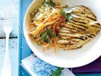 Hühnchen vom Grill mit orientalischem Salat Rezept