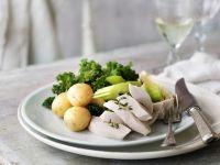 Hühnchenstreifen mit gemischtem Gemüse Rezept