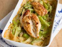 Hühnerbrust mit gratiniertem Brokkoli-Zucchini-Gemüse Rezept