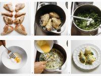 Hühnerfikassee herstellen Rezept