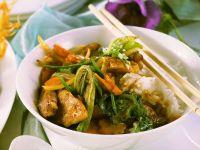 Hühnergeschnetzeltes mit Gemüse Rezept