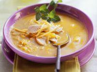 Hühnersuppe mit Reis und Mango Rezept