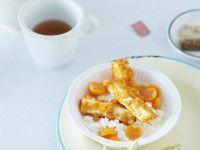 Hüttenkäse mit frittiertem Tofu Rezept